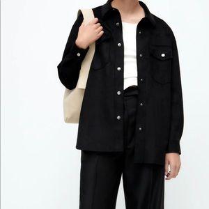 NWT Zara Oversized Black Shacket